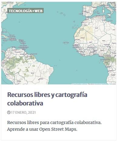 Recursos libres y cartografía colaborativa